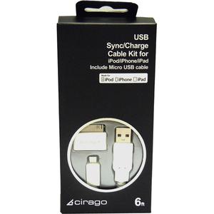 Cirago USB Sync/Charge Cable Kit (IMA1000)