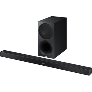 Samsung HW-M450 2.1 Speaker System - 320 W RMSPlacement: Wall Mountable - Wireless Speaker(s) - Black - 40 Hz - 20 kHz - Dolby Digital, DTS, DTS 2.0 Channel, DTS Digital Surround, Surround Sound - Bluetooth - USB - Advanced Audio Coding (AAC), Digital sig