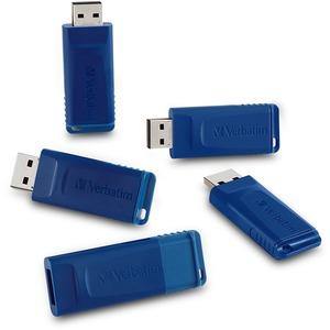 Verbatim 16GB USB Flash Drive - 16 GB - USB - Blue - 5 Pack