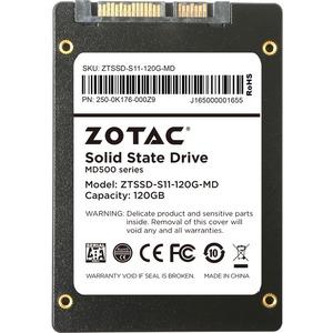 "Zotac 120 GB 2.5"" Internal Solid State Drive - SATA - 525 MB/s Maximum Read Transfer Rate - 480 MB/s Maximum Write Transfer Rate"