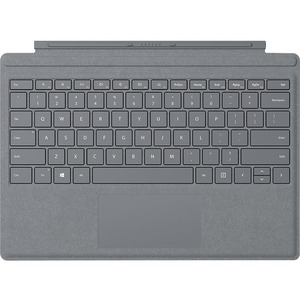 """Microsoft Signature Type Cover Keyboard/Cover Case for Tablet - Platinum - Stain Resistant, Damage Resistant - Alcantara - 0.2"""" Height x 11.6"""" Width x 8.5"""" Depth"""