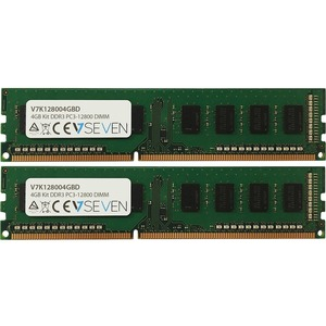 V7 4GB (2x2GB) DDR3 PC3 12800 1600MHZ DIMM Desktop Memory Kit