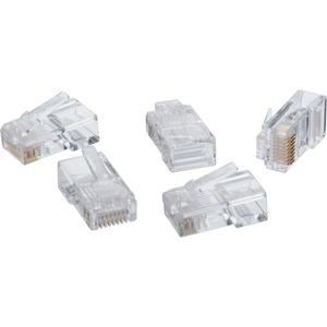 4XEM 1000PK Cat6 RJ45 Ethernet Plugs/Connectors - 1000 Pack - 1 x RJ-45 Male - Clear