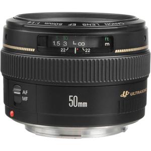 Canon EF 50mm f/1.4 USM Standard & Medium Telephoto Lens - f/1.4