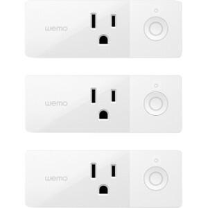 Wemo Mini Smart Outet Plug w/ Wi-Fi, Amazon Alexa & Google Assistant - 3pk