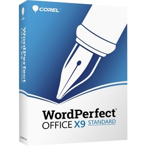 Corel WordPerfect Office v.X9 Standard Edition Box Pack 1 User WPOX9STDEFMBAM