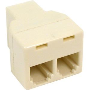 Belkin Pro Series Modular Cable Splitter 1 x RJ-11 F  2 x RJ-11 F Ivory