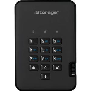 iStorage DISKASHUR2 SSD 128GB Portable Encrypted Hard Drive Black Graphite