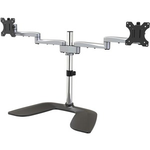 StarTech.com Dual Monitor Stand - Ergonomic Desktop Monitor Stand for up to 32 inch VESA Displays - Free-Standing Adjustable Mount -Silver_subImage_1