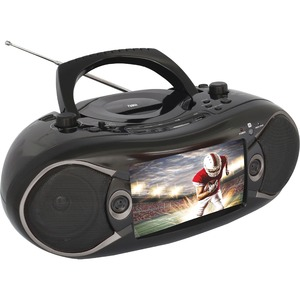 Naxa NDL-287 7-inch LCD Screen Bluetooth DVD Boombox/TV, Black