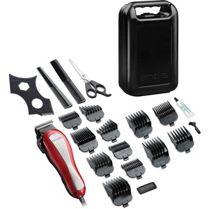 Andis 68110 HeadStyler 20-Piece at Home Hair Clipping Kit - Red