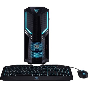 Acer Predator PO3-600 Gaming Desktop Computer Core i7 i7-9700 16 GB RAM 2 TB HDD 512 GB SSD Windows 10 Pro 64-bit NVIDIA GeForce RTX 2060 6 GB DVD-Writer Gigabit Ethernet Wireless LAN DGE1XAA004