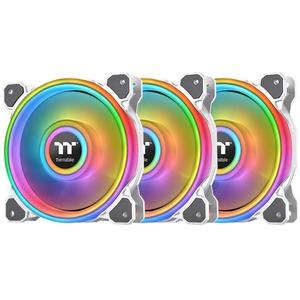 Thermaltake Riing Quad 12 RGB Radiator Fan TT Premium 3 Pack White CLF100PL12SWB