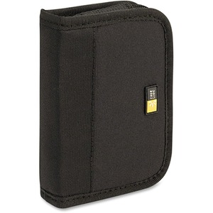 Case Logic 6 Capacity USB Drive Shuttle - Book Fold - Neoprene - Black - 6 USB Drive
