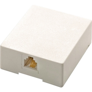 Steren Modular Surface Mounting Box - RJ-11 - White