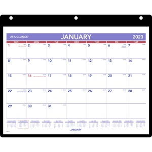 At-A-Glance 3HP Monthly DeskWall Calendar