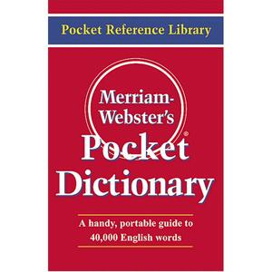 Merriam-Webster Red Pocket Dictionary
