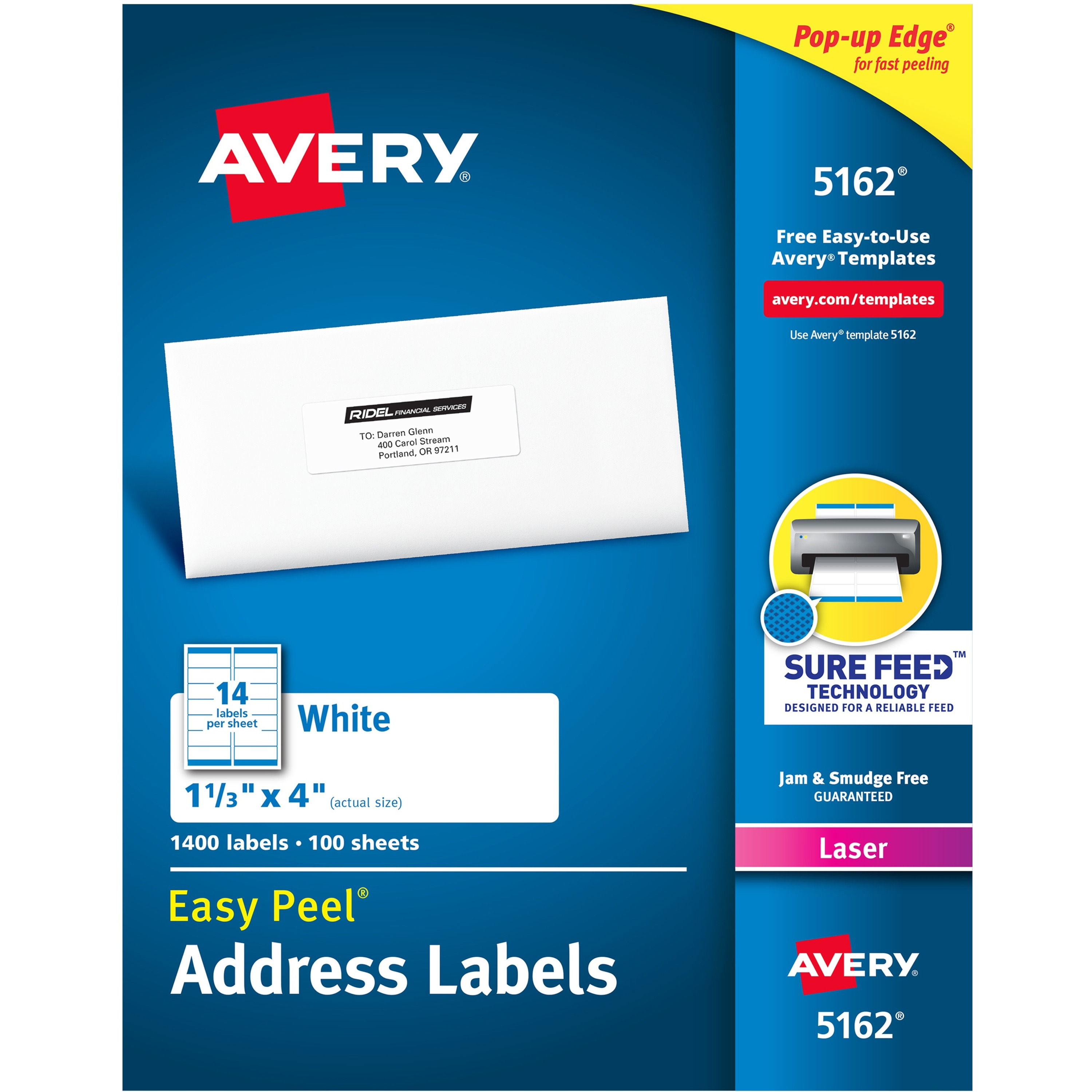 avery easy peel address labels with sure feed technology kopy