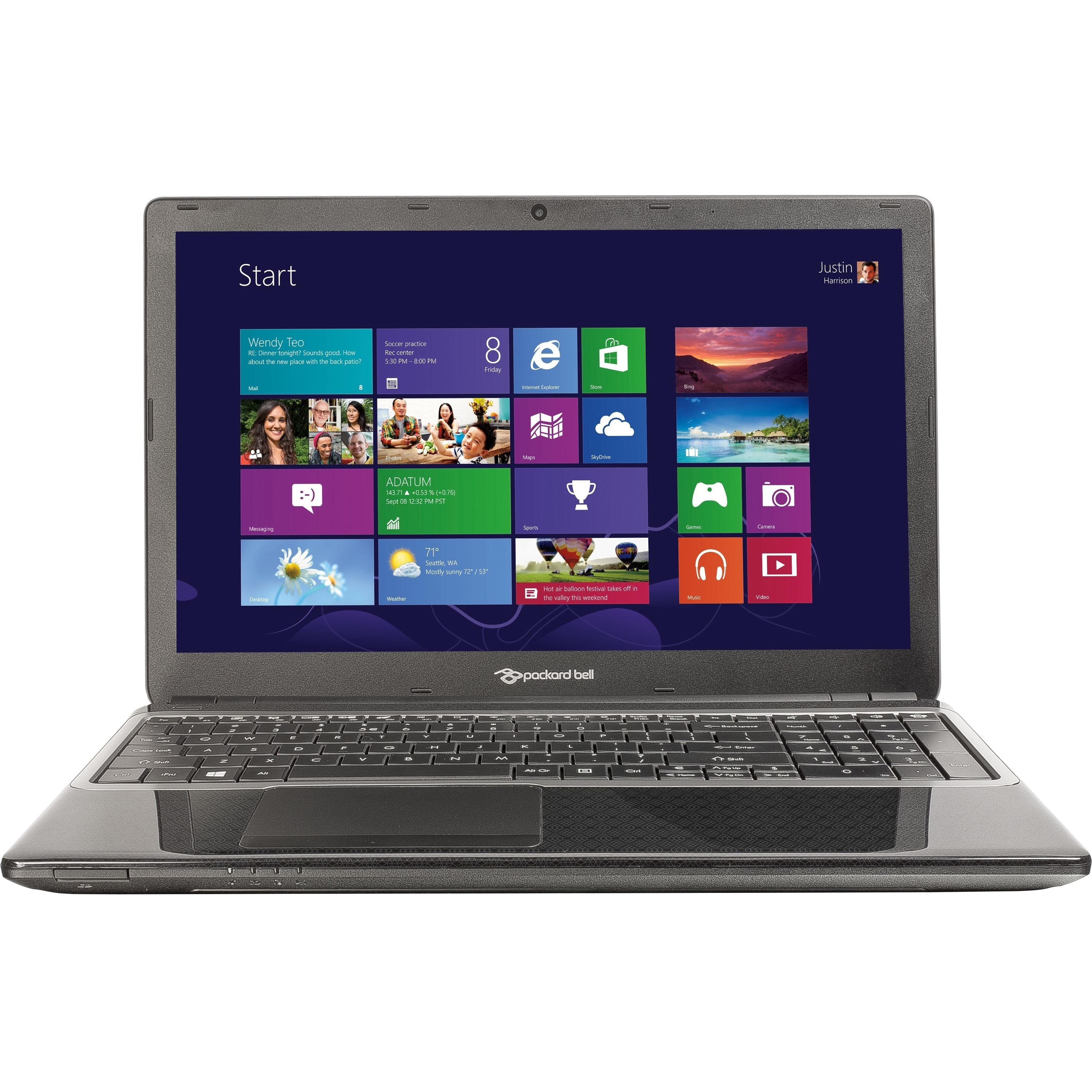 Packard Bell EasyNote Te69 + Carry Case + Setup