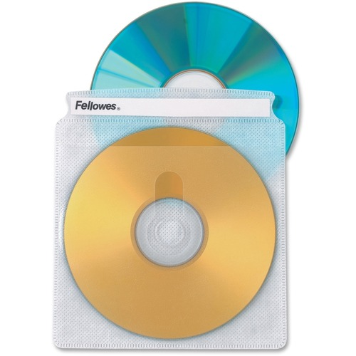 Double-Sided CD/DVD Sleeves, 50/Pk | by Plexsupply