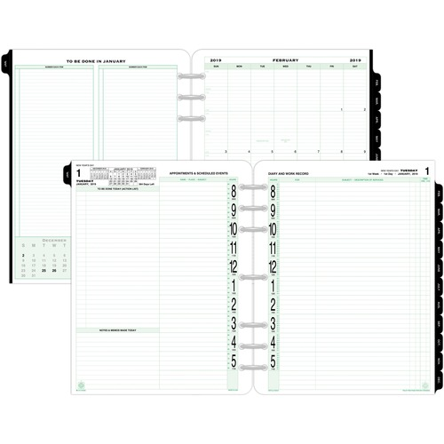 image regarding Planner Refills called DTM 94010 Working day-Timer 2PPD Free-leaf Authentic Planner Refills DTM94010