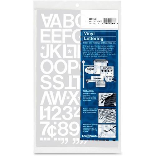 Chartpak Vinyl Lettering Set | by Plexsupply