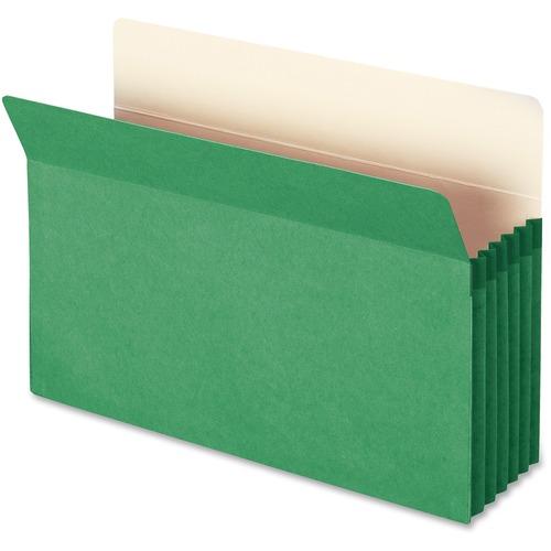Smead 74236 Green Colored File Pockets