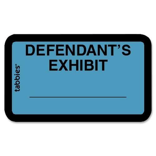 Tabbies Defendant's Exhibit Legal File Labels | by Plexsupply