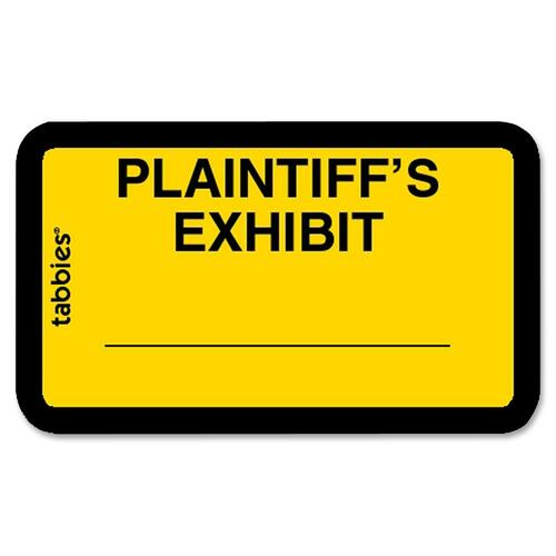Tabbies Plaintiff's Exhibit Legal File Labels | by Plexsupply