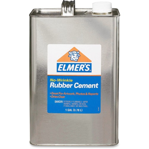 Elmer's - rubber cement, repositionable, 1 gal, sold as 1 ea