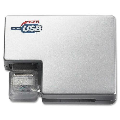 Compucessory 4-Port Plug-and-Play Travel USB Hub