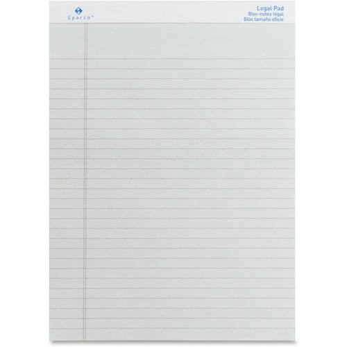 Sparco Gray Legal Ruled Pad