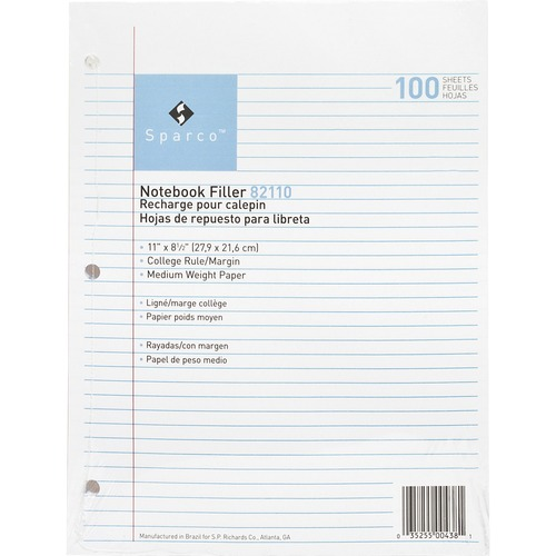 Sparco Notebook Filler Paper | by Plexsupply