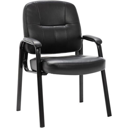 Lorell Chadwick Srs Executive Leather Guest Chair | by Plexsupply