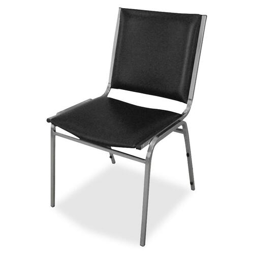 Lorell Padded Seat Armless Stacking Chairs   by Plexsupply