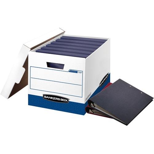 FELLOWES 12PK BANKERS BOX BINDERBOX STORAGE BOX WHITE/BLUE