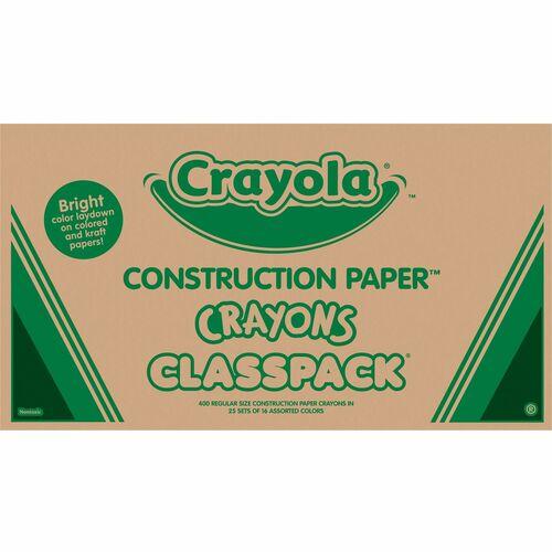 Crayola Construction Paper Classpack Crayons | by Plexsupply