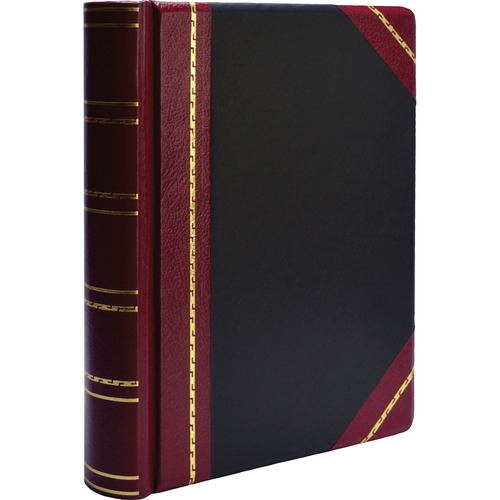 "Minute book binder, 500-sheet cap, 11""x8-1/2"", red/black, sold as 1 each"
