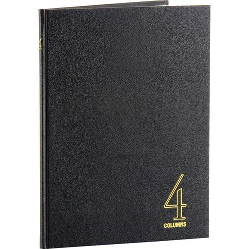 """4 column book, 80 pages, 9-1/4""""x7"""", black, sold as 1 each"""