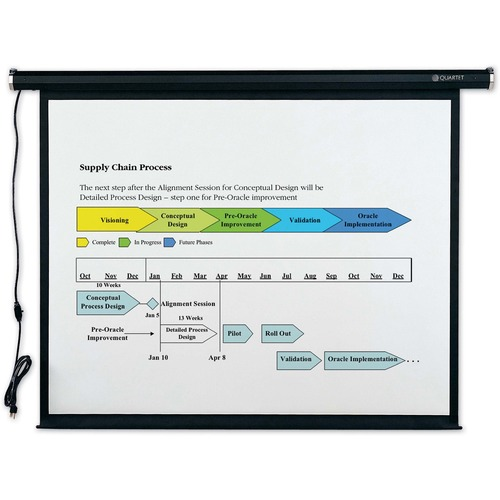 "Quartet Electric Projection Screen - 99"" - 1:1 - Wall Mount, Ceiling Mount"