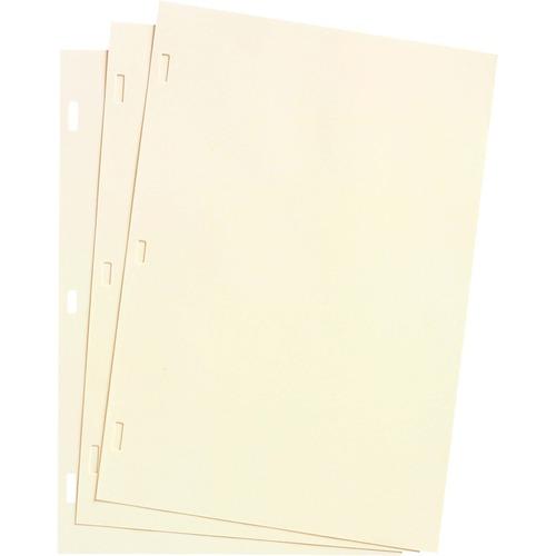 Acco Ivory Linen Ledger Refill Sheet