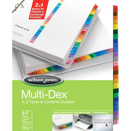 Acco Multidex A-Z Complete Index Divider