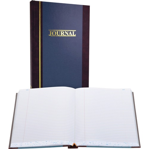 "Account book, record-ruled, 500 pages, 11-3/4""x7-1/4"", blue, sold as 1 each"