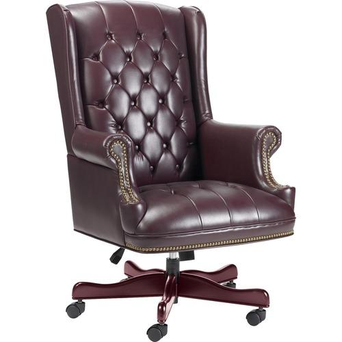 Lorell Berkeley Tradtnl Exec Nail-head Trim Chair | by Plexsupply