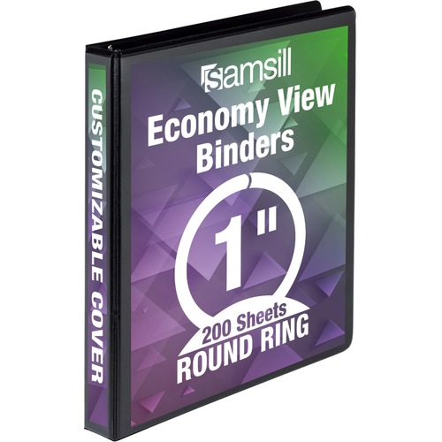 Samsill Economy Round Ring View Binder | by Plexsupply