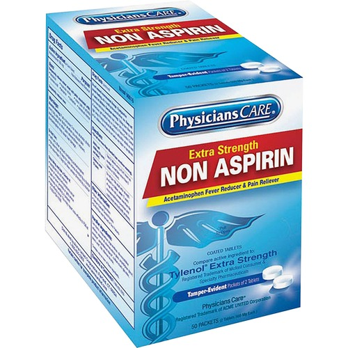 PhysiciansCare Acetaminophen Single Packets 50/Box