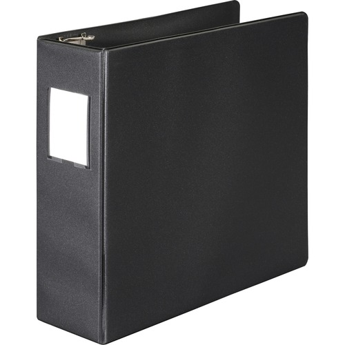 Wilson jones - basic vinyl d-ring binder with label holder, 3-inch capacity, black, sold as 1 ea
