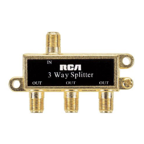 RCA 3-Way Signal Splitter