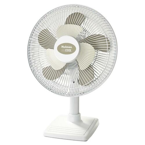 Jarden HOLMES 2Cool Personal Oscillating Table Fan, 12""