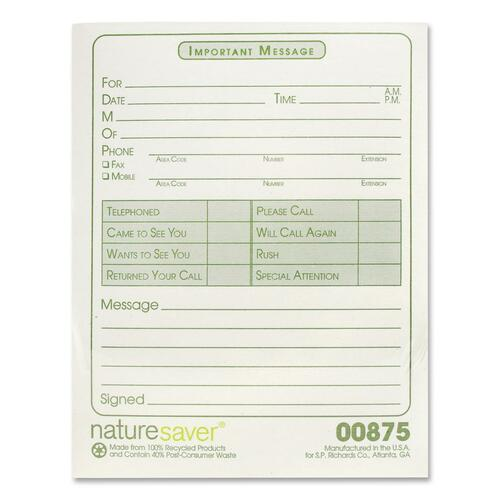 "Nature Saver Recycled ""While You Were Out"" Message Pad"